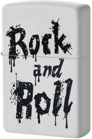 29538 Зажигалка Zippo Rock and Roll, White Matte