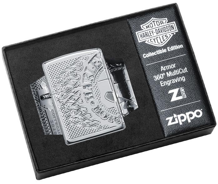 29741 Зажигалка Zippo Harley-Davidson® 2018 Collectible, Polish Chrome