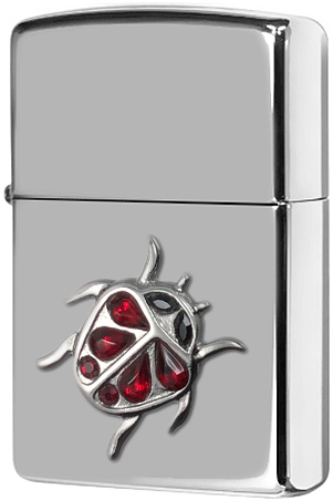 20509 Зажигалка Zippo Ladybug Emblem, Polish Chrome