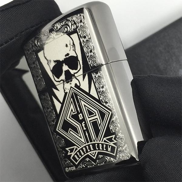 28757 Зажигалка Zippo SOA, Black Ice