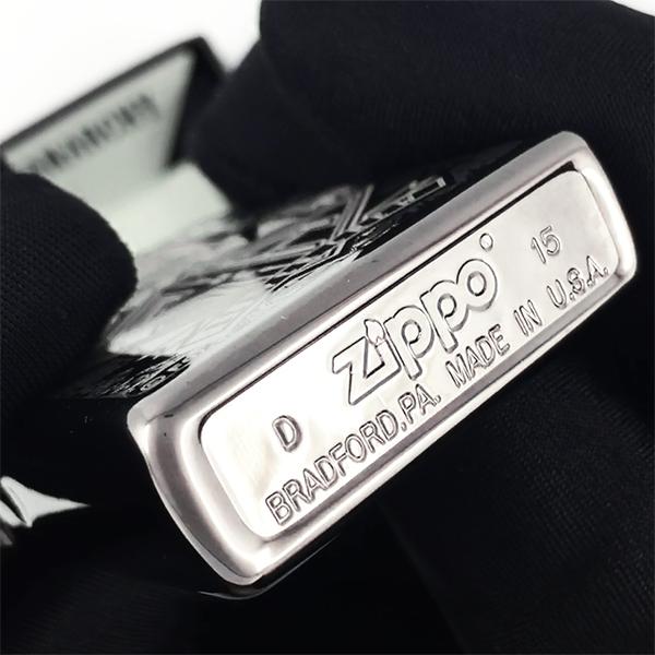 28757 Зажигалка Zippo SOA, Black Ice - заводской штамп зиппо