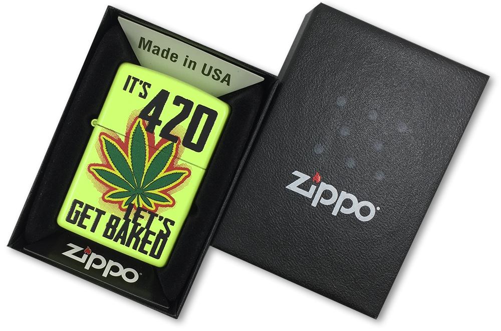 28887 Зажигалка Zippo Let's Get Baked Design, Neon Lemon - в подарочной коробке