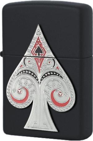 29491 Зажигалка Zippo Spade Emblem, Black Matte