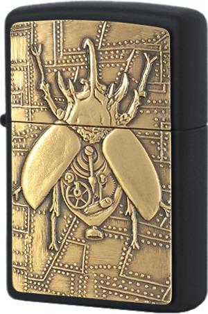 29567 Зажигалка Zippo Steampunk Beetle Emblem, Black Matte