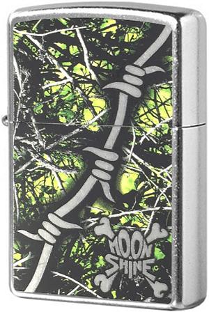 29593 Зажигалка Zippo Lifestyle Camo, Street Chrome