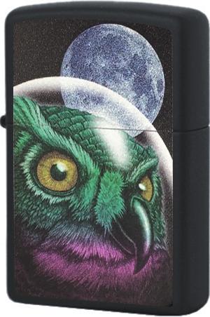 29616 Зажигалка Zippo Space Owl, Black Matte