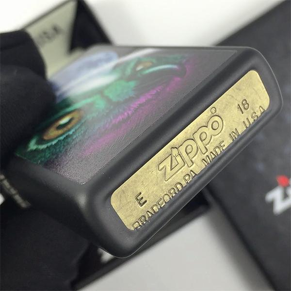 29616 Зажигалка Zippo Space Owl, Black Matte - заводской штамп на дне зажигалки зиппо
