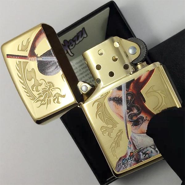 29668 Зажигалка Zippo Mazzi Dragon, Polish Brass29668 Зажигалка Zippo Mazzi Dragon, Polish Brass