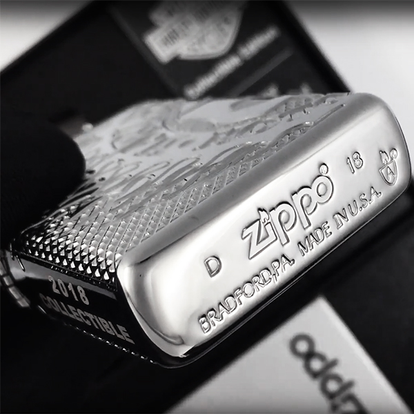29741 Зажигалка Zippo Harley-Davidson® 2018 Collectible, Polish Chrome - заводской штамп на дне зажигалки