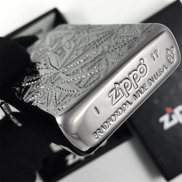 29834 Зажигалка Zippo Piled High, Armor Black Ice - заводской штамп на дне зажигалки