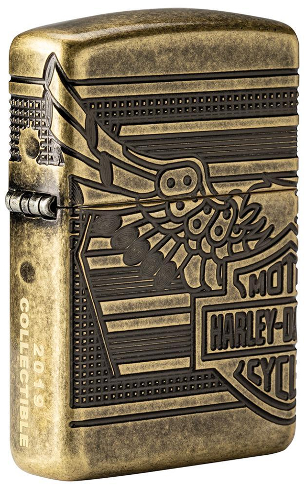 29898 Зажигалка Zippo Harley-Davidson® 2019 Collectible, Armor Antique Brass