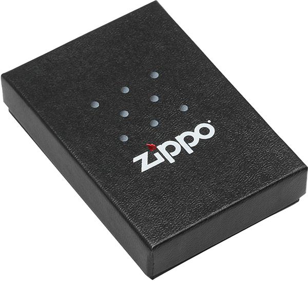 218 Зажигалка Zippo Police gun Badge & Handcuffs, Black Matte упаковка