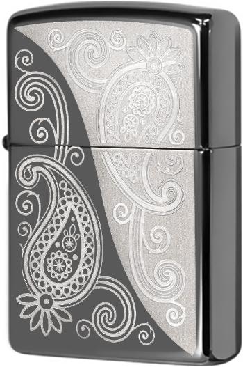 29511 Зажигалка Zippo Paisley Design, Black Ice