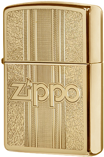 29677 Зажигалка Zippo and Pattern Design, Polish Brass