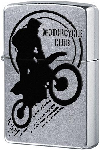 29695 Зажигалка Zippo Motorbike Club, Street Chrome