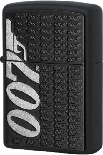 29718 Зажигалка Zippo James Bond 007 Emblem, Black Matte
