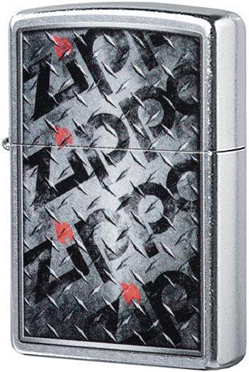29838 Зажигалка Zippo Diamond Plate Zippo Design, Street Chrome