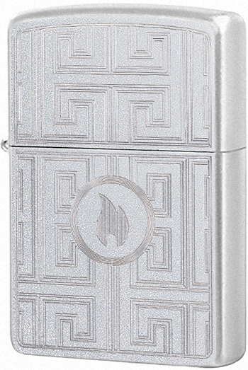 29857 Зажигалка Zippo Labyrinth Design, Satin Chrome