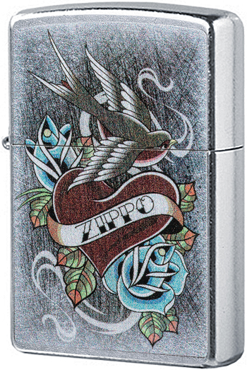 29874 Зажигалка Zippo Vintage Tattoo Zippo, Street Chrome