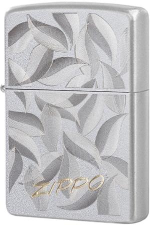 29908 Зажигалка Zippo Foliage Pattern, Satin Chrome