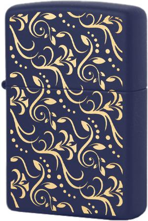 29926 Зажигалка Zippo Pattern Flowers, Navy Matte