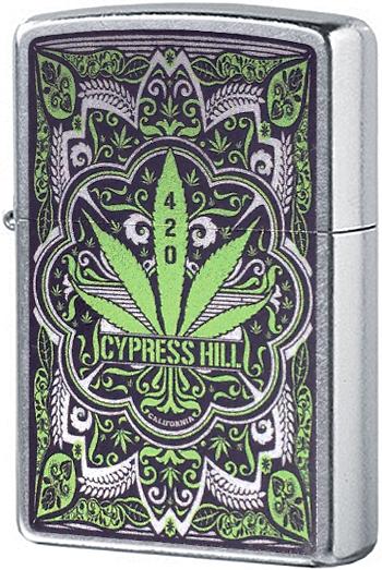 49010 Зажигалка Zippo Cypress Hill, Street Chrome