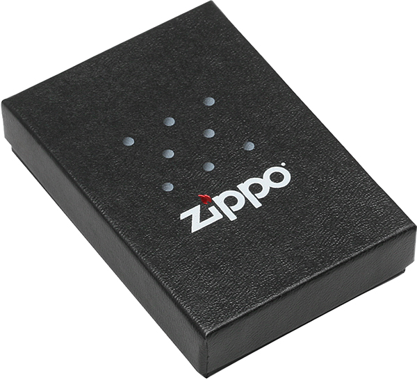 29733 Зажигалка Zippo Spider and Web Design, Black Ice упаковка