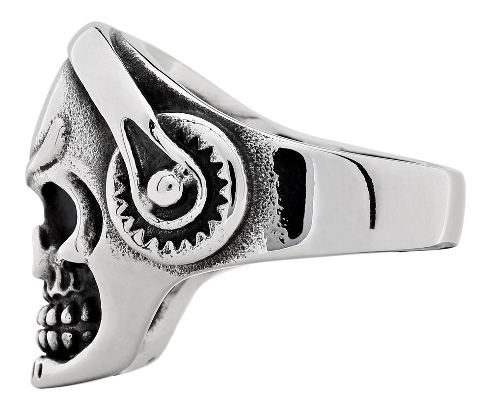 2006264 Кольцо Zippo, серебристое, форма черепа, нержавеющая сталь, 2,5x2,6x0,6 см
