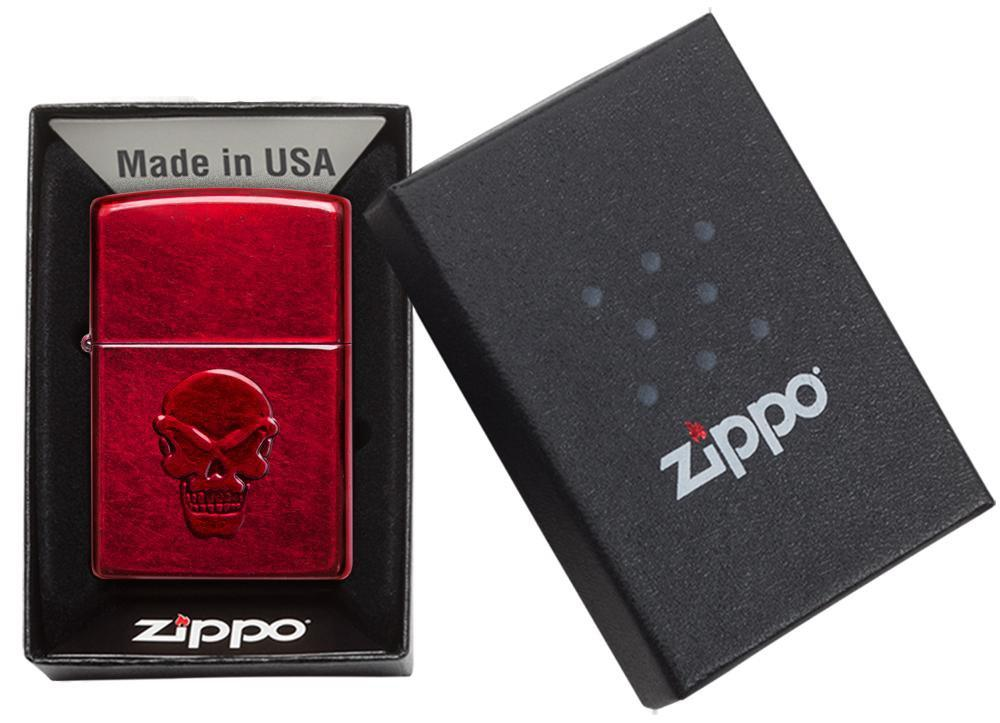 21186 Зажигалка Zippo Doom, Candy Apple Red