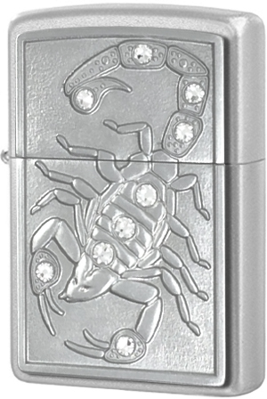 Зажигалка Zippo 2825 Scorpion King Emblem, Satin Chrome