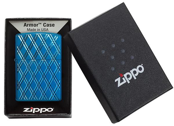 29964 Зажигалка Zippo Diamonds, Armor Polish Blue29964 Зажигалка Zippo Diamonds, Armor Polish Blue