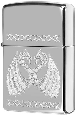 29988 Зажигалка Zippo Dancing Dragons, Polish Chrome