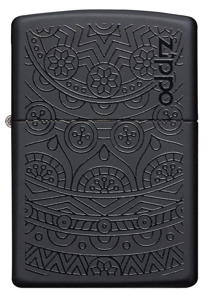29989 Зажигалка Zippo Tone on Tone Design, Black Matte