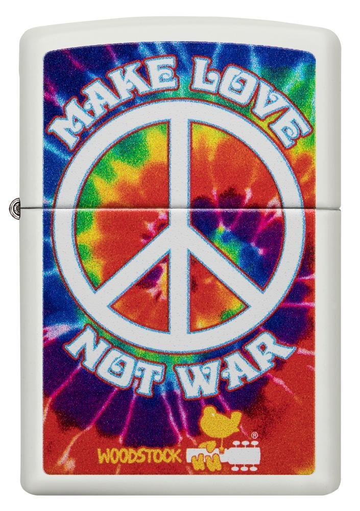 49013 Зажигалка Zippo Woodstock, White Matte