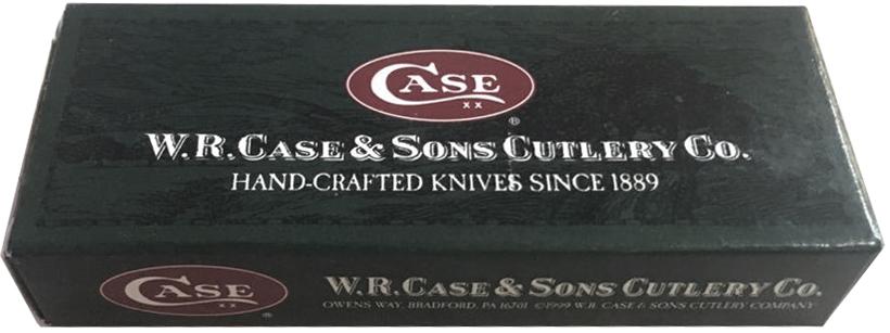 00158 Нож складной Medium Brushed Stainless Steel Executive Lockback CASE XX Logo упаковка