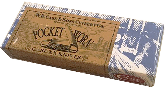 07400 Нож складной Case XX Pocket Worn Harvest Orange Small Texas Toothpick (610096 SS) упаковка