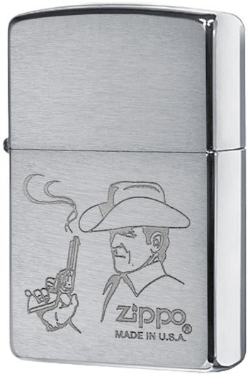200 Cowboy Зажигалка Zippo, Brushed Chrome