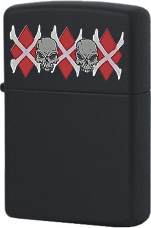 218 Зажигалка Zippo Pirates Skull, Black Matte