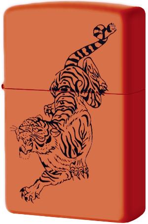 231 Зажигалка Zippo Tigre Black, Orange Matte