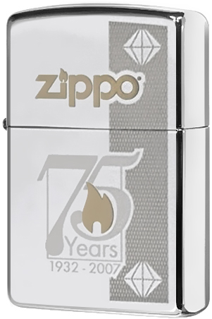 24058 75TH Зажигалка Zippo Commemorative, Polish Chrome24058 75TH Зажигалка Zippo Commemorative, Polish Chrome