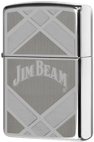 24550 Зажигалка Zippo Jim Beam, Polish Chrome