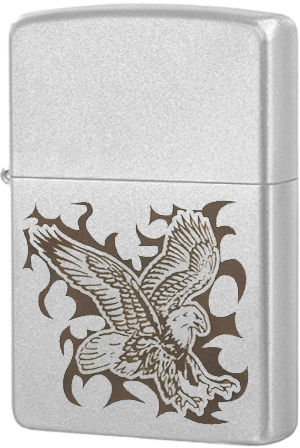 24910 Зажигалка Zippo Eagle, Satin Chrome