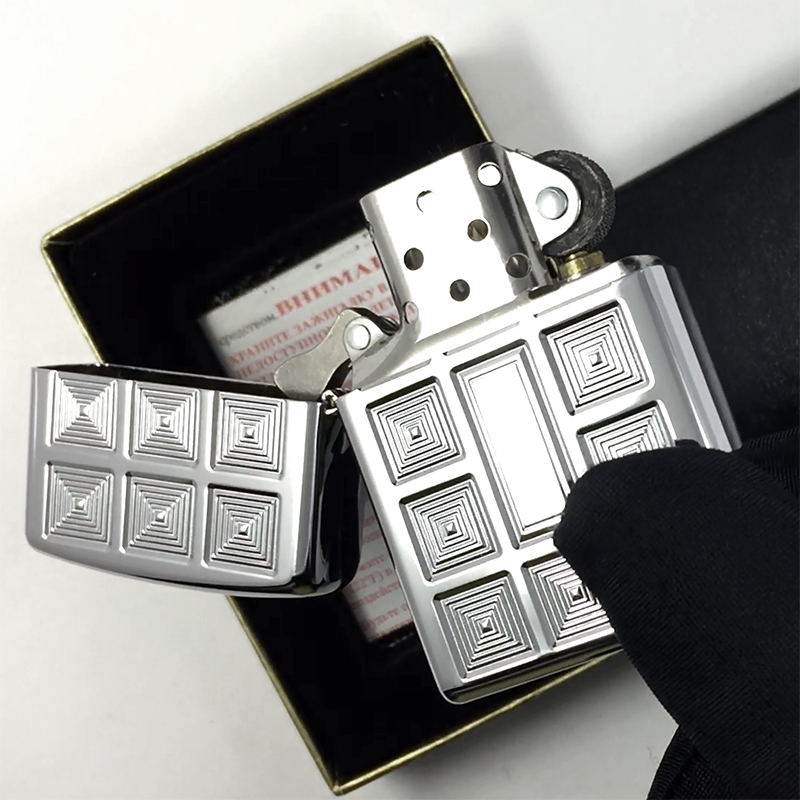 20337 Зажигалка Zippo Infinite Dimensions, High Polish Chrome