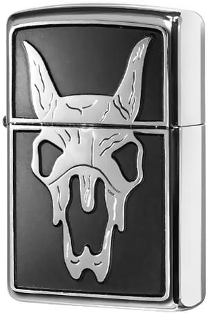 20481 Зажигалка Zippo Western Steer Emblem, Polish Chrome
