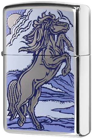 21162 Зажигалка Zippo Horse, Polish Chrome