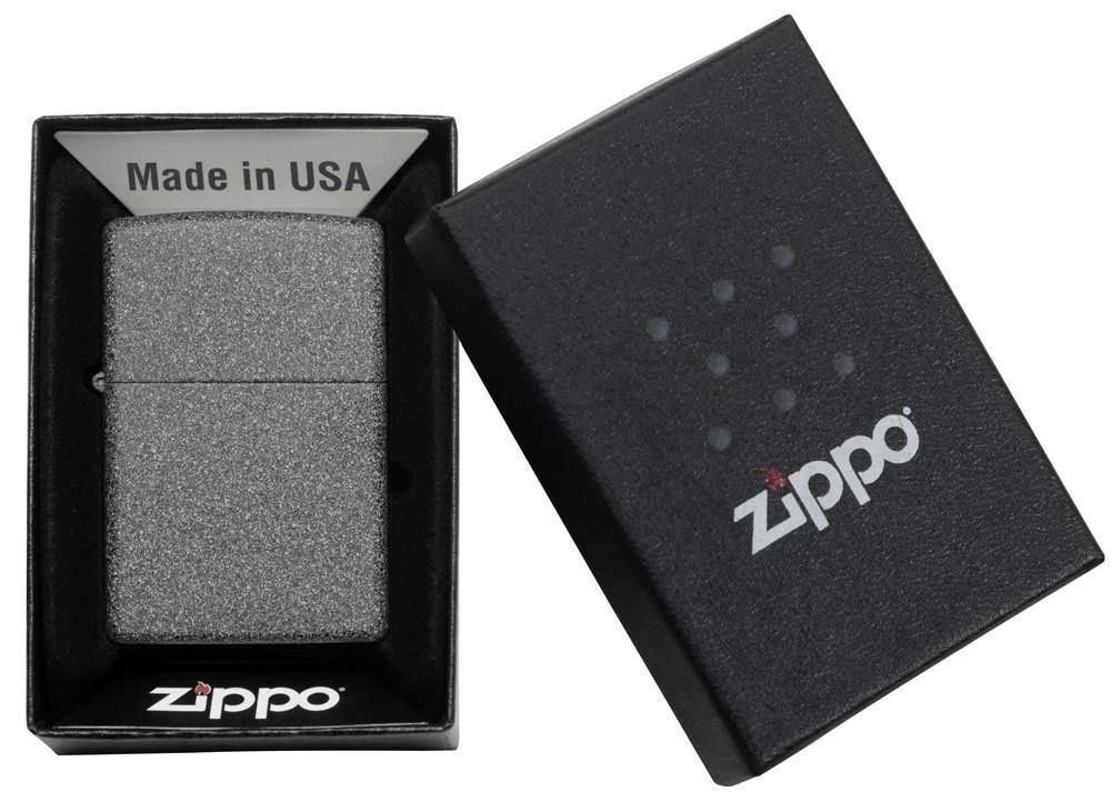 211 Зажигалка Zippo Classic Iron Stone упаковка