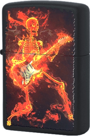 218.431 Зажигалка Zippo Guitarist Series of Fiery, Black Matte