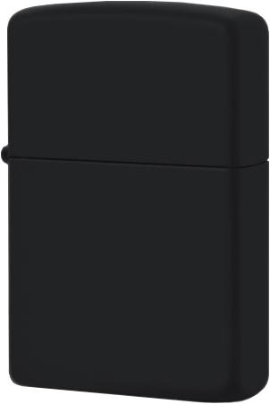 218 Зажигалка Zippo Plain, Black Matte чёрная матовая зиппо