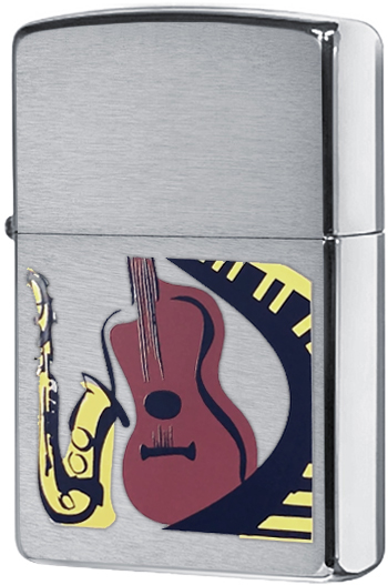 24497 Зажигалка Zippo Musical, Brushed Chrome