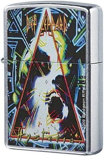 24567 Зажигалка Zippo Def Leppard, Street Chrome